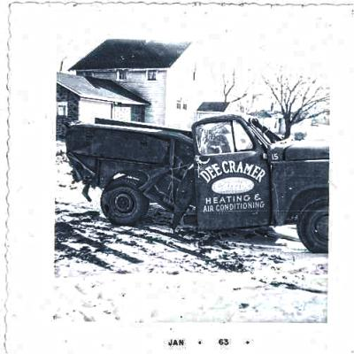 An old photo of a service truck from January 1963.